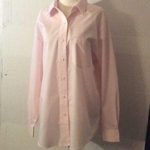 ORVIS, pink wrinkle free ladies dress shirt #14